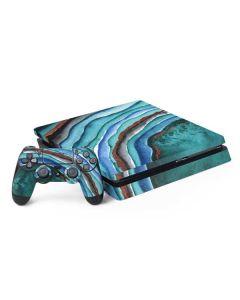 Turquoise Watercolor Geode PS4 Slim Bundle Skin