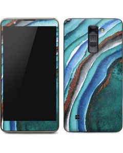 Turquoise Watercolor Geode Stylo 2 Skin