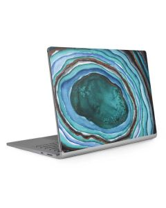 Turquoise Watercolor Geode Surface Book 2 13.5in Skin