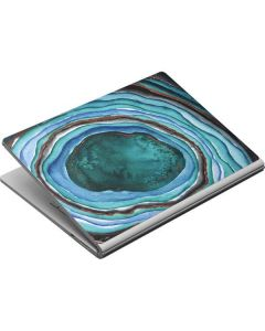 Turquoise Watercolor Geode Surface Book Skin