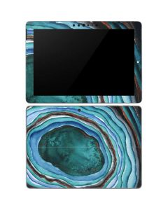 Turquoise Watercolor Geode Surface Go Skin