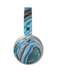 Turquoise Watercolor Geode Surface Headphones Skin