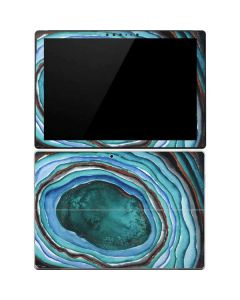 Turquoise Watercolor Geode Surface Pro 4 Skin