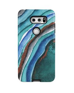 Turquoise Watercolor Geode V30 Pro Case