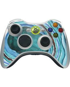 Turquoise Watercolor Geode Xbox 360 Wireless Controller Skin