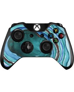 Turquoise Watercolor Geode Xbox One Controller Skin