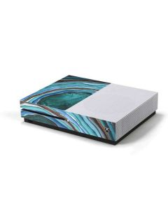 Turquoise Watercolor Geode Xbox One S Console Skin
