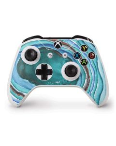 Turquoise Watercolor Geode Xbox One S Controller Skin