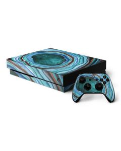 Turquoise Watercolor Geode Xbox One X Bundle Skin