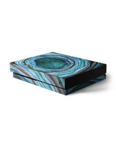 Turquoise Watercolor Geode Xbox One X Console Skin