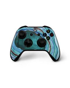 Turquoise Watercolor Geode Xbox One X Controller Skin