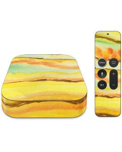 Tuscan Sun Watercolor Geode Apple TV Skin