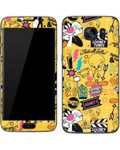Tweety and Sylvester Patches Galaxy S7 Skin