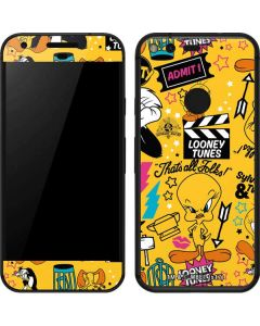 Tweety and Sylvester Patches Google Pixel Skin
