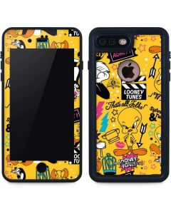 Tweety and Sylvester Patches iPhone 8 Plus Waterproof Case