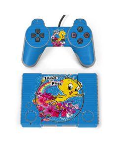 Tweety Bird Wild and Free PlayStation Classic Bundle Skin