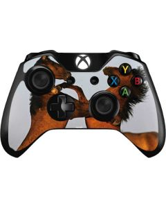 Two Stallions at a Wild Horse Conservation Center Xbox One Controller Skin