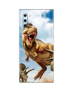 Tyrannosaurus Rex Fighting with Two Triceratops Galaxy Note 10 Skin