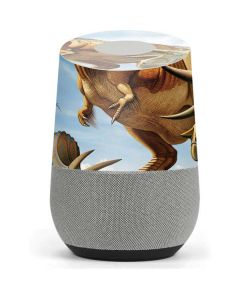 Tyrannosaurus Rex Fighting with Two Triceratops Google Home Skin