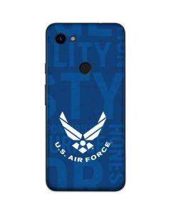 U.S. Air Force Logo Blue Galaxy S10 Plus Skin
