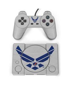 U.S. Air Force Logo Grey PlayStation Classic Bundle Skin