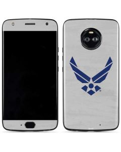 U.S. Air Force Logo Grey Moto X4 Skin