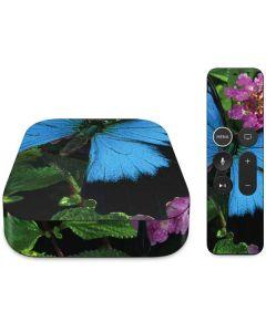 Ulysses Butterfly Lands On Pink Flowers Apple TV Skin