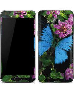 Ulysses Butterfly Lands On Pink Flowers Galaxy J3 Skin