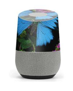 Ulysses Butterfly Lands On Pink Flowers Google Home Skin