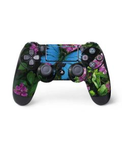 Ulysses Butterfly Lands On Pink Flowers PS4 Pro/Slim Controller Skin