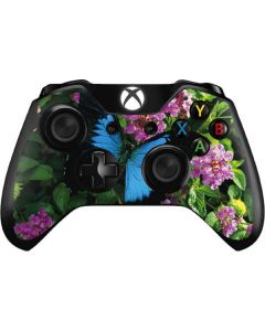 Ulysses Butterfly Lands On Pink Flowers Xbox One Controller Skin