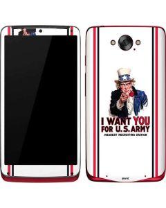 Uncle Sam Vintage War Poster Motorola Droid Skin