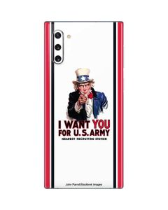 Uncle Sam Vintage War Poster Galaxy Note 10 Skin
