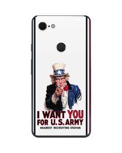 Uncle Sam Vintage War Poster Google Pixel 3 XL Skin