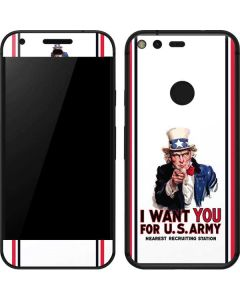 Uncle Sam Vintage War Poster Google Pixel Skin