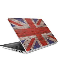 United Kingdom Flag Dark Wood HP Pavilion Skin