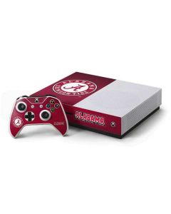University of Alabama Seal Xbox One S Console and Controller Bundle Skin
