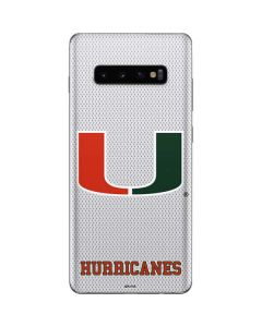 University of Miami Mesh Galaxy S10 Plus Skin