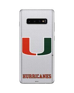 University of Miami Mesh Galaxy S10 Plus Skin