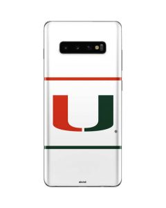 University of Miami White Split Galaxy S10 Plus Skin