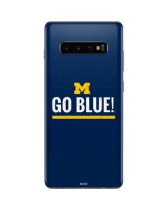 University of Michigan Go Blue Galaxy S10 Plus Skin