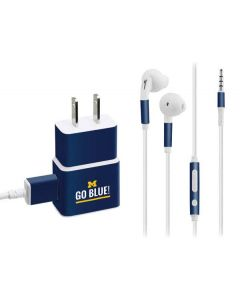 University of Michigan Go Blue Phone Charger Skin