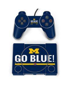 University of Michigan Go Blue PlayStation Classic Bundle Skin