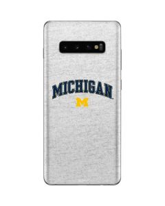 University of Michigan Heather Grey Galaxy S10 Plus Skin