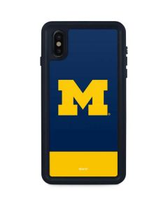University of Michigan Logo iPhone XS Max Waterproof Case