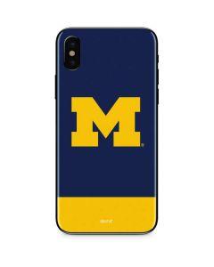 University of Michigan Logo iPhone XS Skin
