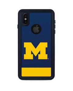 University of Michigan Logo iPhone XS Waterproof Case