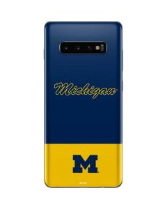 University of Michigan Split Galaxy S10 Plus Skin