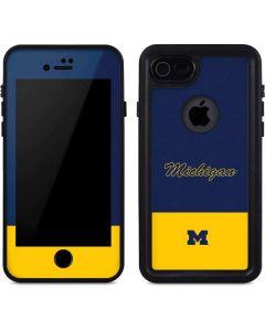 University of Michigan Split iPhone 8 Waterproof Case