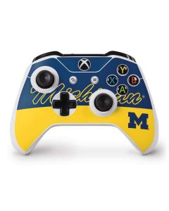 University of Michigan Split Xbox One S Controller Skin